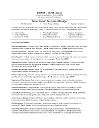 Practice Manager Resume Senior Human Resources Manager Resume