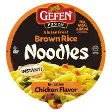 gefen noodles morrisons gefen gluten free brown rice noodle bowl chicken 64g