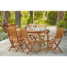 hampton bay adelaide eucalyptus 7 piece patio dining set sett1738