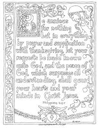 coloring pages kids adron printable philippians 4 6 7