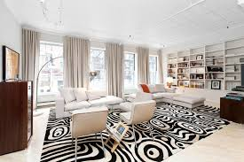 stylish soho loft in new york features a trendy black and white