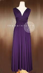 maxi grape bridesmaid convertible long dress infinity multiway