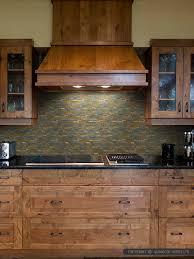 slate tile kitchen backsplash rustic copper linear slate blend mosaic tile kitchen