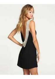 black spaghetti strap sleeveless backless dress sheinside com