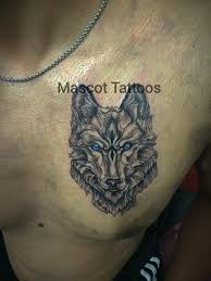 wolf done by sahil arora another dope chest coming