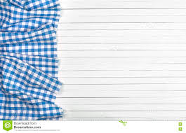 Wooden Table Top View Blue Tablecloth On Wooden Table Top View Stock Photo Image