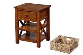fully assembled end tables amazon com end table with drawer and 2 shelves and basket fully