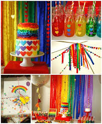 Rainbow Party Decorations Kara U0027s Party Ideas Rainbow Themed Birthday Party Decor Ideas