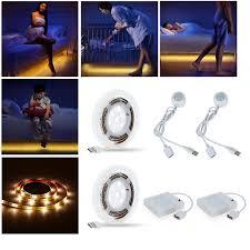 aa battery light bulb 2 sets 1 2m usb led strip smart pir sensor motion light bulb usb 4