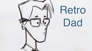 draw a retro style cartoon dad step by step youtube