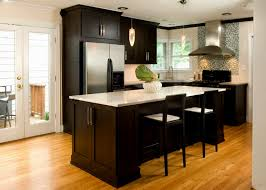 Kitchen Designs With Dark Cabinets Dark Cabinets And Wood Flooring Sharp Home Design