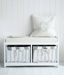 White Storage Bench White Storage Seat Bench White Storage Seat Bench With Lined