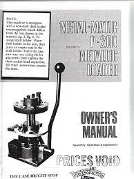 metal matic p 200 manual cartridge firearms firearms
