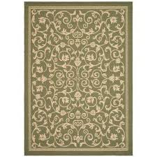 Safavieh Outdoor Rugs Green Safavieh 9 X 12 Outdoor Rugs Rugs The Home Depot