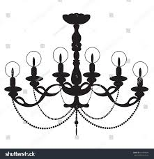 Classic Chandelier by Classic Chandelier On White Background Luxury Stock Vector