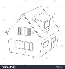 outline house vector illustration stock vector 191111159