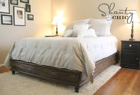 How To Build A Platform Bed Frame With Drawers by Ana White Chestwick Platform Bed Queen Size Diy Projects