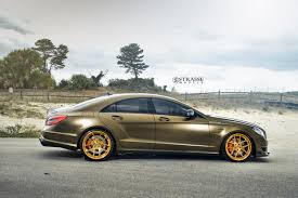 mercedes cls 63 amg mercedes amg cls63 looks rolling on strasse forged rims