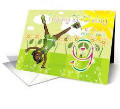 9th birthday happy birthday card cute little card african