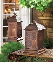 bronze moroccan filigree metal candle holder lantern lamp terrace