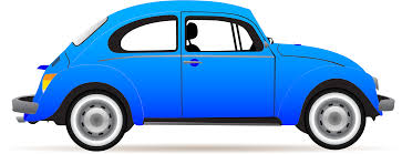 volkswagen buggy blue clipart blue beetle profile