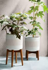 mid century planters west elm home laurel ave pinterest