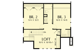 bungalow floor plan bungalow with open floor plan loft 69541am architectural
