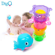 popular baby shower bath cup buy cheap baby shower bath cup lots animal bath toy kids whale stacking cups set early education baby shower water toy in the bathroom tortoise crab fish frog d50