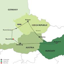 Map Of Switzerland And Germany by Cosmos Tours Prague Vienna U0026 Budapest 2017