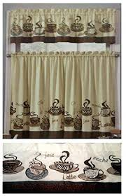 Coffee Themed Curtains Coffee Themed Kitchen Curtains Snaphaven