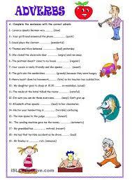 adverbs worksheet worksheets