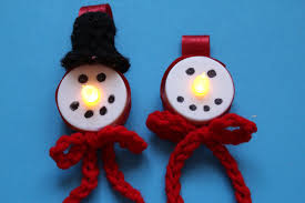 how to make snowman led tealight christmas ornament with crochet