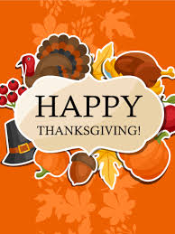 time for a feast happy thanksgiving card birthday greeting