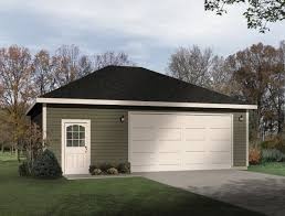 hip roof 2 car drive thru garage 22054sl cad available pdf plan