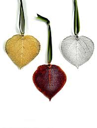 real aspen leaf ornaments contemporary ornaments