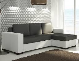 canapé d angle noir et blanc pas cher canape d angle avec couchage et coffres bicolore