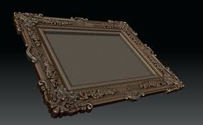 Frame 3d Max Model Ornate Picture Frame 3d Model 3d