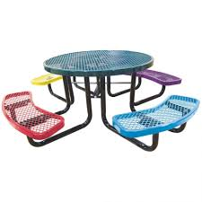 furniture modest circular picnic table for outdoor room circular