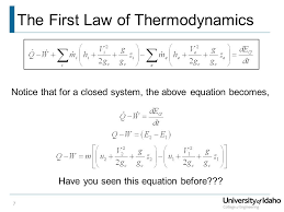 7 the first law of thermodynamics