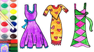 learn draw paint barbie dresses learn draw