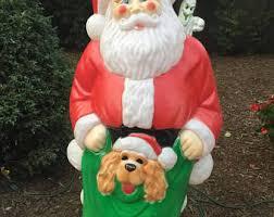 Blow Mold Christmas Yard Decorations Blow Mold Santa Etsy