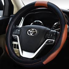toyota corolla steering wheel cover aliexpress com buy fashion genuine leather sports car steering