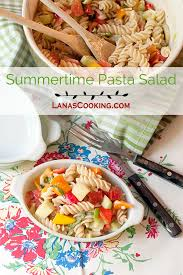 Pasta Salad Recipes With Italian Dressing Summertime Pasta Salad Never Enough Thyme