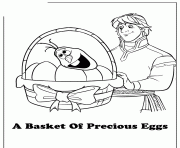 anna olaf egg cited easter frozen colouring coloring