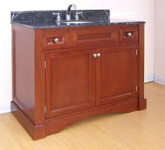 42 inch single sink bathroom vanity with choice of finish and