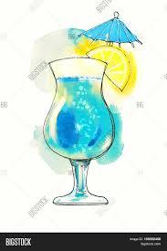watercolor cocktail watercolor red transparent cocktail image u0026 photo bigstock