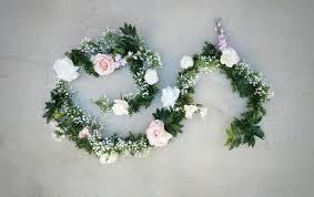 flower garland babies breath garland flower garland wedding flowers silk