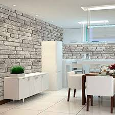 Faux Brick Interior Wall Covering Faux Brick Wallpaper Amazon Com