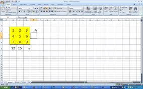 Magic Square Worksheet Magic Squares With Excel Youtube