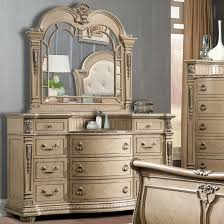 Bedroom Dresser With Mirror by Davis Direct Monaco Traditional Elegantly Carved Dresser And